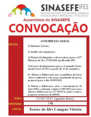 Convocação Assembleia 23-09-15