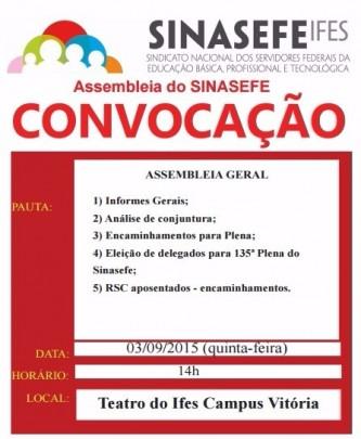 Convocação de assembleia 03-09-15