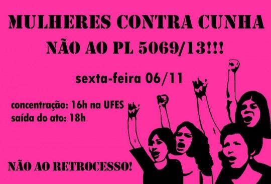 Ato das Mulheres contra o Cunha