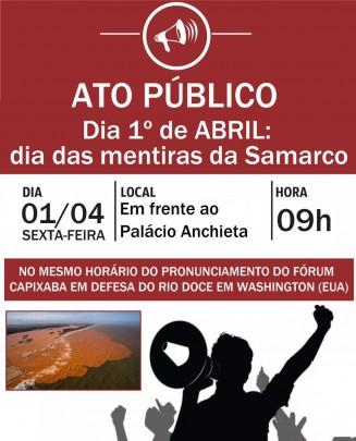 Ato Público 1 de abril Rio Doce