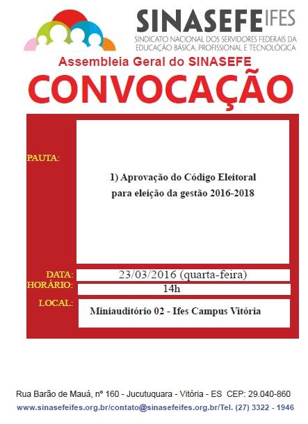 Convocação assembleia geral 23-03-16