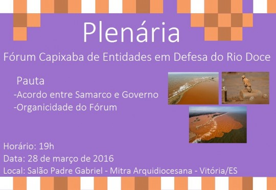 Plenária Rio Doce - 28-03-16