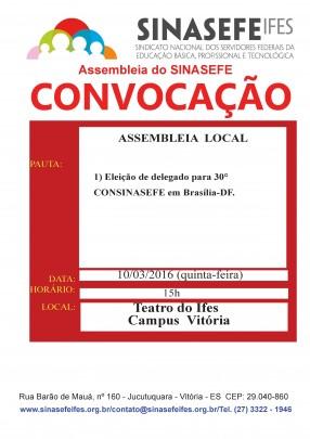 Vitória- Convocação para assembleia local 10.03