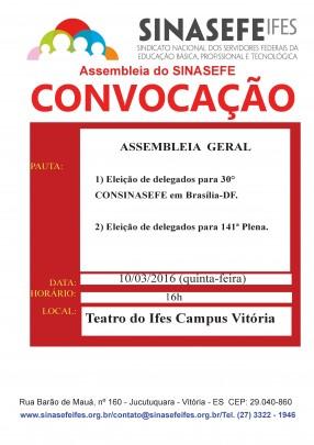 Vitória Geral-  Convocação 10.03