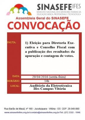 Convocação assembleia de eleição 29-04-16