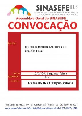 Convocação para assembleia Geral 12-05-16