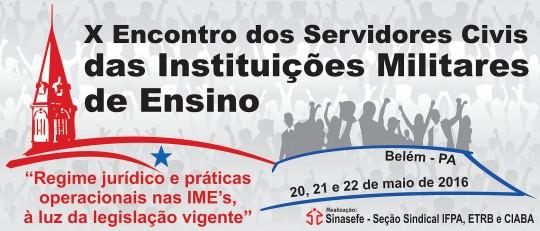 Encontro de servidores civis em instituições militares - Pará