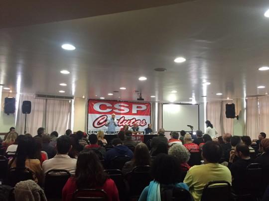 Filiados do Sinasefe no evento preparatório para o II ENE em SP
