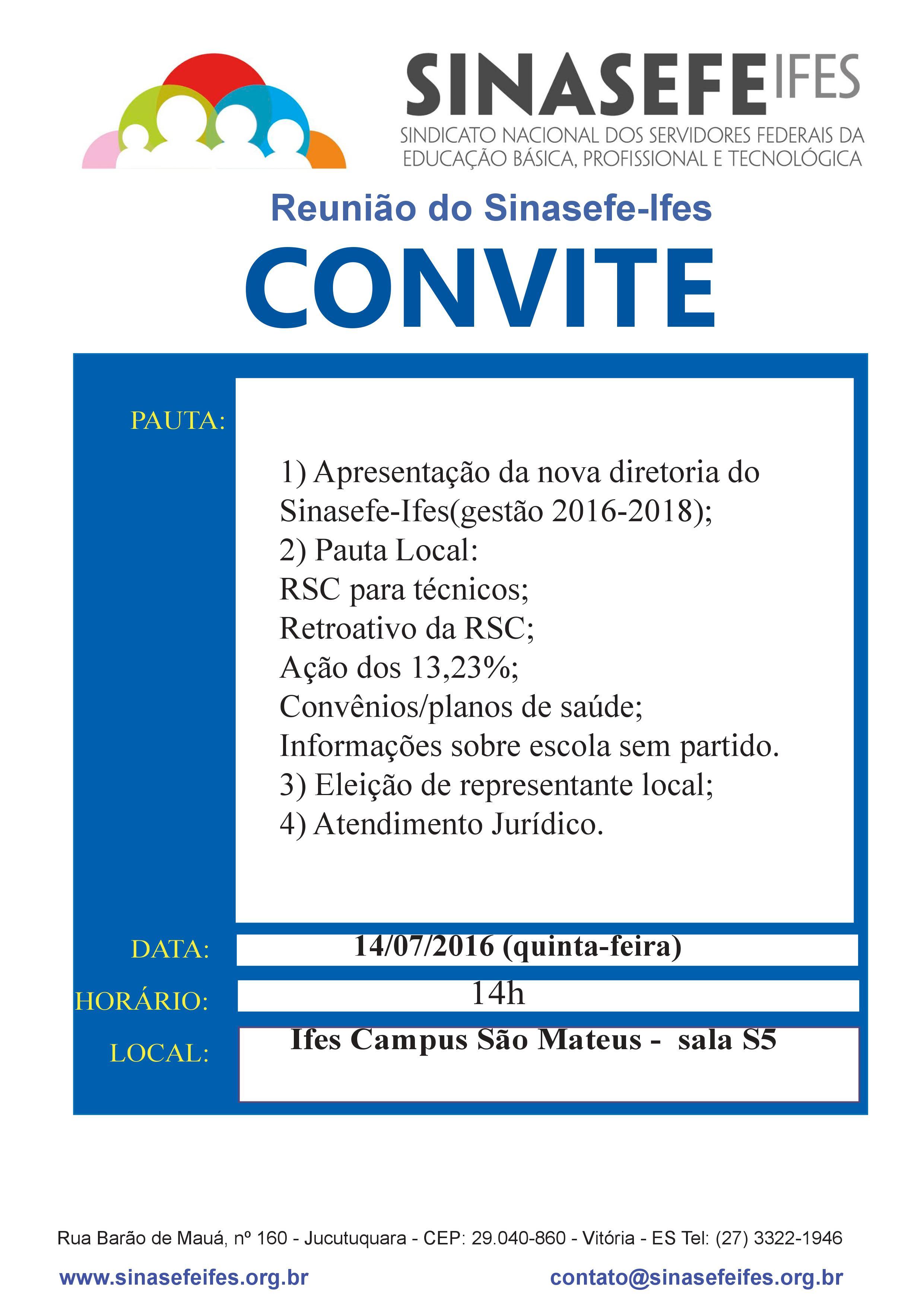 Reunião nova diretoria em São Mateus