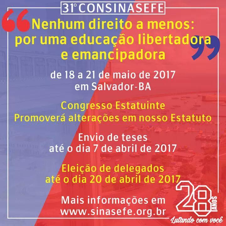 Banner congresso Estatuinte em Salvador em maio