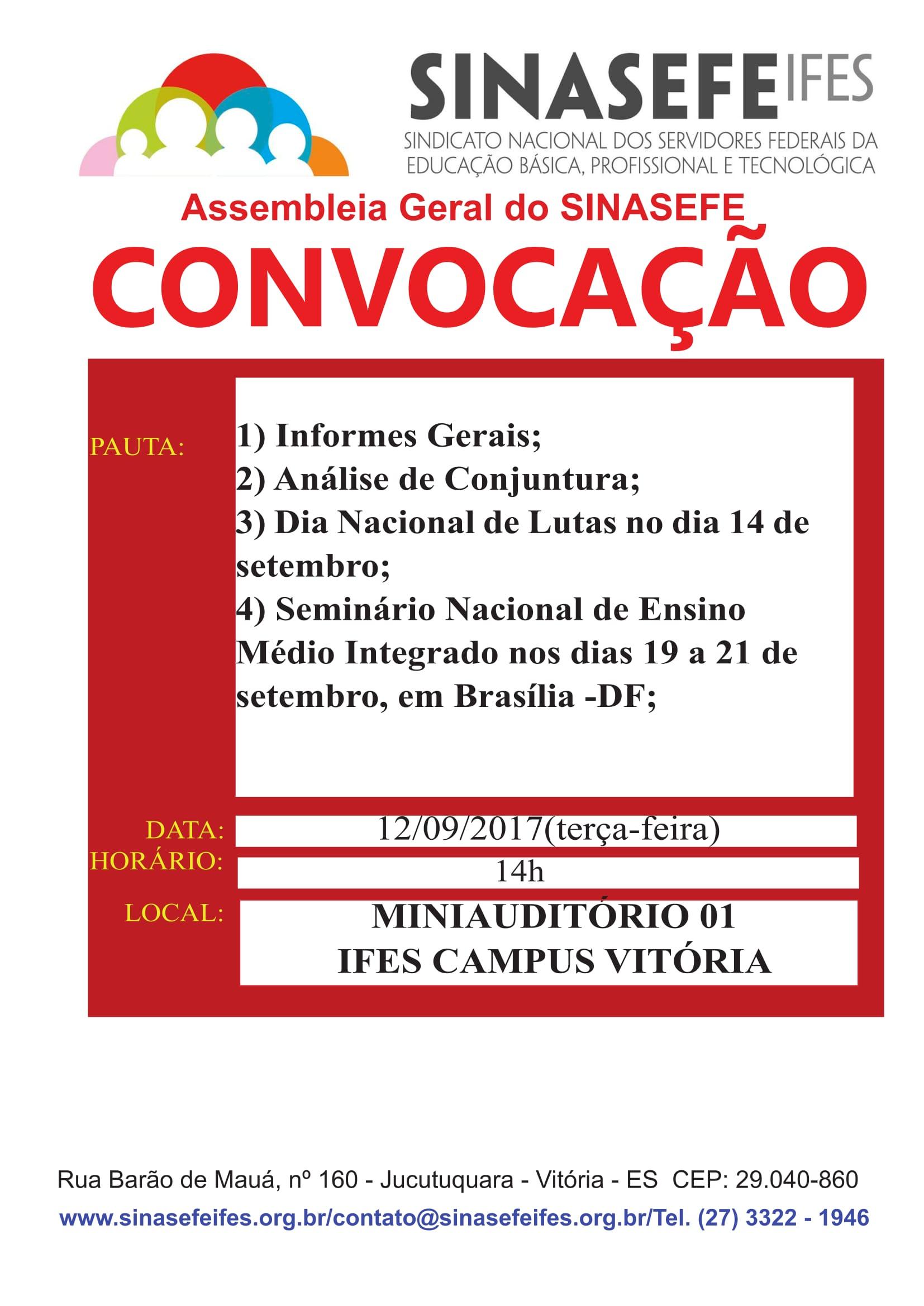 Convocação para assembleia geral -12.09-1