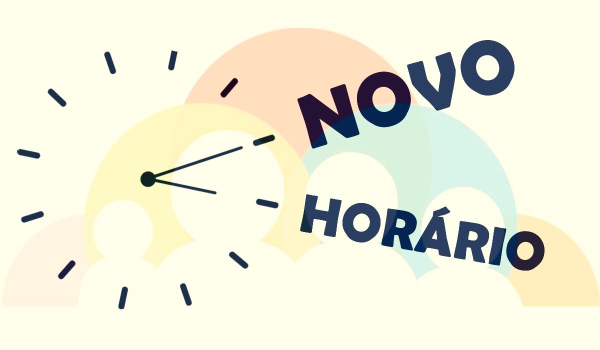 NOVO HORÁRIO